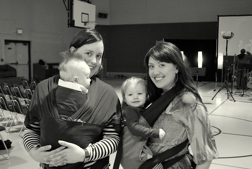 babywearing at church