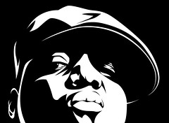 Notorious Big Art (Mel Marcelo) Tags: portrait blackandwhite face contrast vectorart cap hiphop rap biggie adobeillustrator notorious biggiesmalls notoriousbig melito melmarcelo