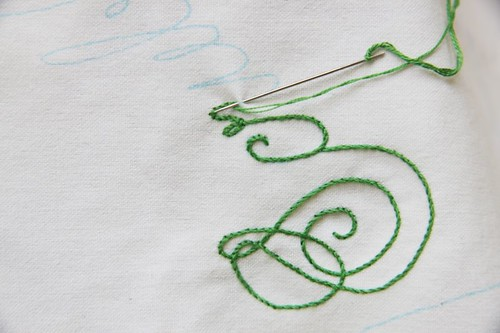 How to Stem Stitch (sort of)...