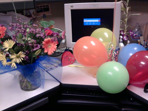 How awesome are my coworkers? Birthday pretties!
