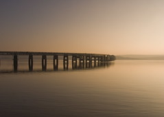Tay Rail Bridge (gregheath) Tags: sunrise scotland tayrailbridge