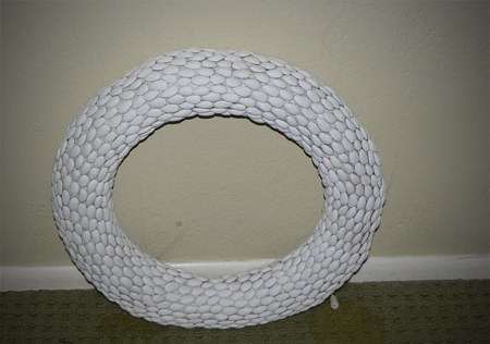 almond nut wreath primer paint