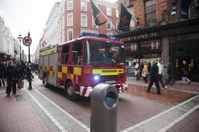 Dublin Fire Brigade In Action