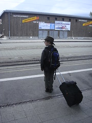 Chatterboy and his luggage