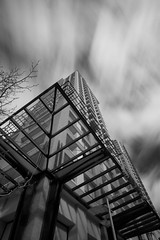 Day 212/365... (Justin Kraemer Photography) Tags: longexposure blackandwhite bw building vancouver clouds movement bc britishcolumbia nd vancouverbc movingclouds neutraldensity