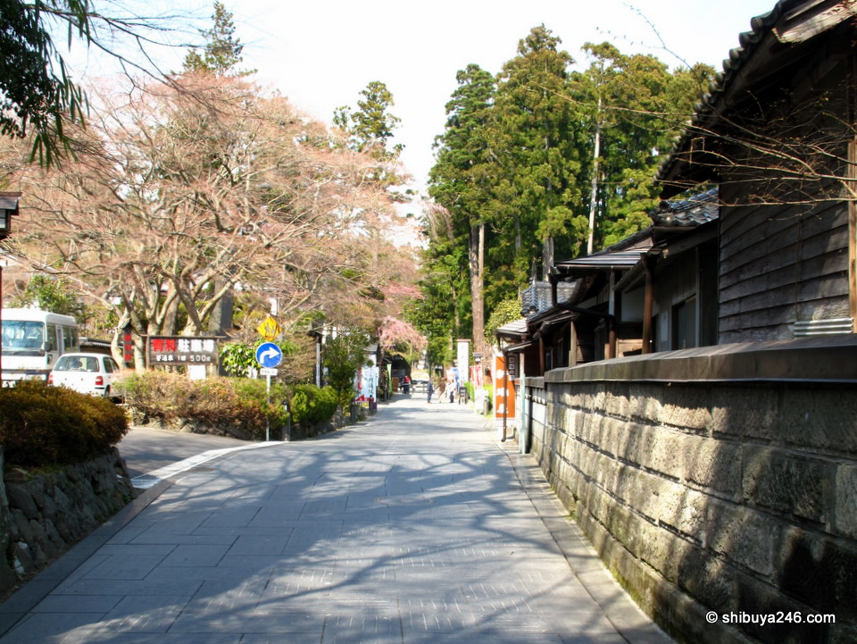 The area with all the temples has a nice set of paths that you can peacefully stroll down. There are not a lot of shops but the ones they have are well stocked with local gifts and plenty of charm.