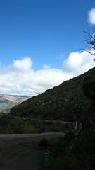 Otay Mountain road, fallen rock and mtb