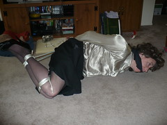 My first Hogtie 4 (cameraman344) Tags: bondage crossdresser