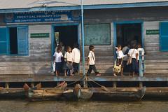 Primary School on river (tatlmt) Tags: school river cambodia primaryschool floatingvillages