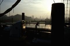 Cuxhaven III (Majanne) Tags: sunset reflection water port boat ship harbour slide dia transfer hafen spiegelung cuxhaven digitalisiert diadigitalisiert