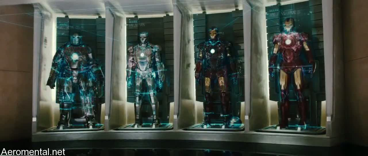 Iron Man 2 Mark I II III IV armors