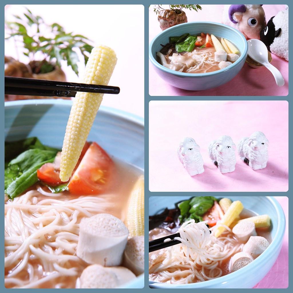 羴食堂-紅麴蔬菜麵
