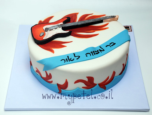 Electric Guitar Cake ~*~ עוגת בר מצווה גיטרה חשמלית