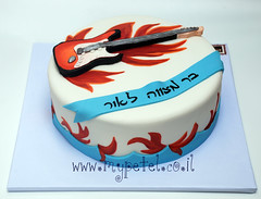 Electric Guitar Cake ~*~      (~ petel ~) Tags: fender electricguitar fondant barmitzvahcake