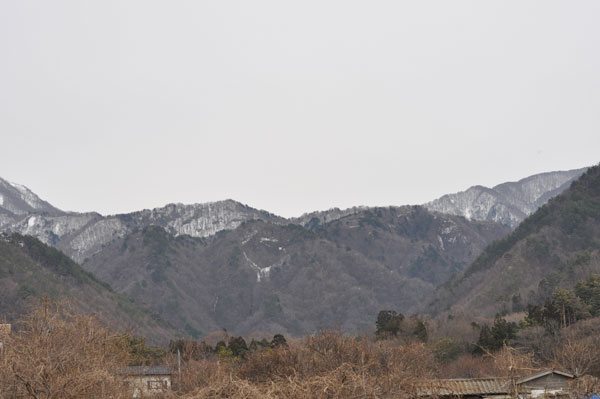 The remaining snow of the mountain
