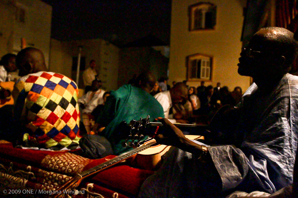 Private Baaba Maal concert on his rooftop for ONE delegation in  Dakar, Senegal