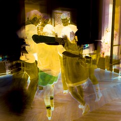 Dancing ghosts (Mindless Afternoon) Tags: party paris dancing negative ghosts dancingghosts