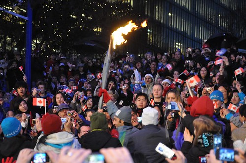 Paralympic Torch Relay at Robson Square