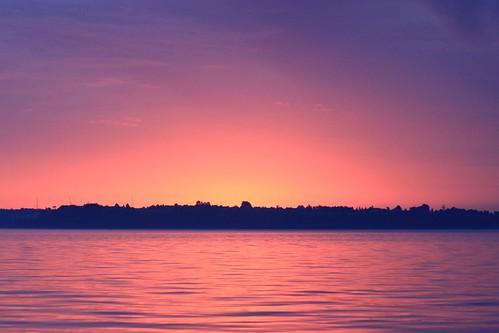 Sunset outside Puerto Varas