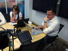 On the set at Talk2Cisco with Tom Gillis and Chris Hoff (Cisco Pics) Tags: chris broadcast tom live social security cisco network hoff gillis securing talk2cisco