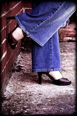 148 / 365 (Maralianna) Tags: favorite brown selfportrait brick me myself concrete nikon shoes tamara platform keith charles jeans sp brickwall heel 365 talisman 148 d90