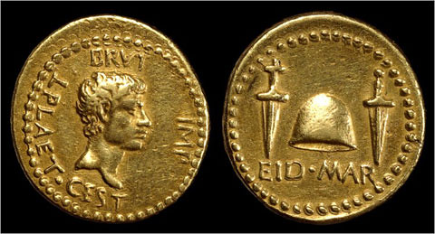 Roman gold Eid Mar coin