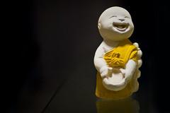Enlightened (michaeljosh) Tags: reflection sunshine buddha joy smiles textures enlightened nikkor50mmf14d project365 makeyousmile nikond90 thaisouvenir michaeljosh