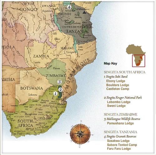 Singita Map