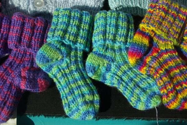 Blue green socks