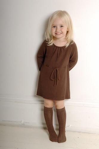 Шоколадное платье от Bamboo Baby
