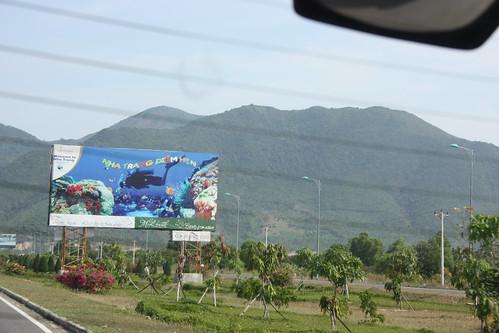 Signs when leaving Nha Trang