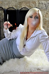 Smoking Femme Fatale with holder (andy188uk) Tags: sexy cigarette smoke smoking blonde holder