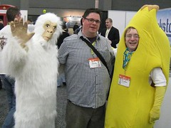 me and a gorilla and a banana