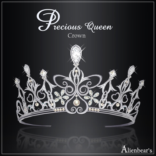 Precious Queen crown white
