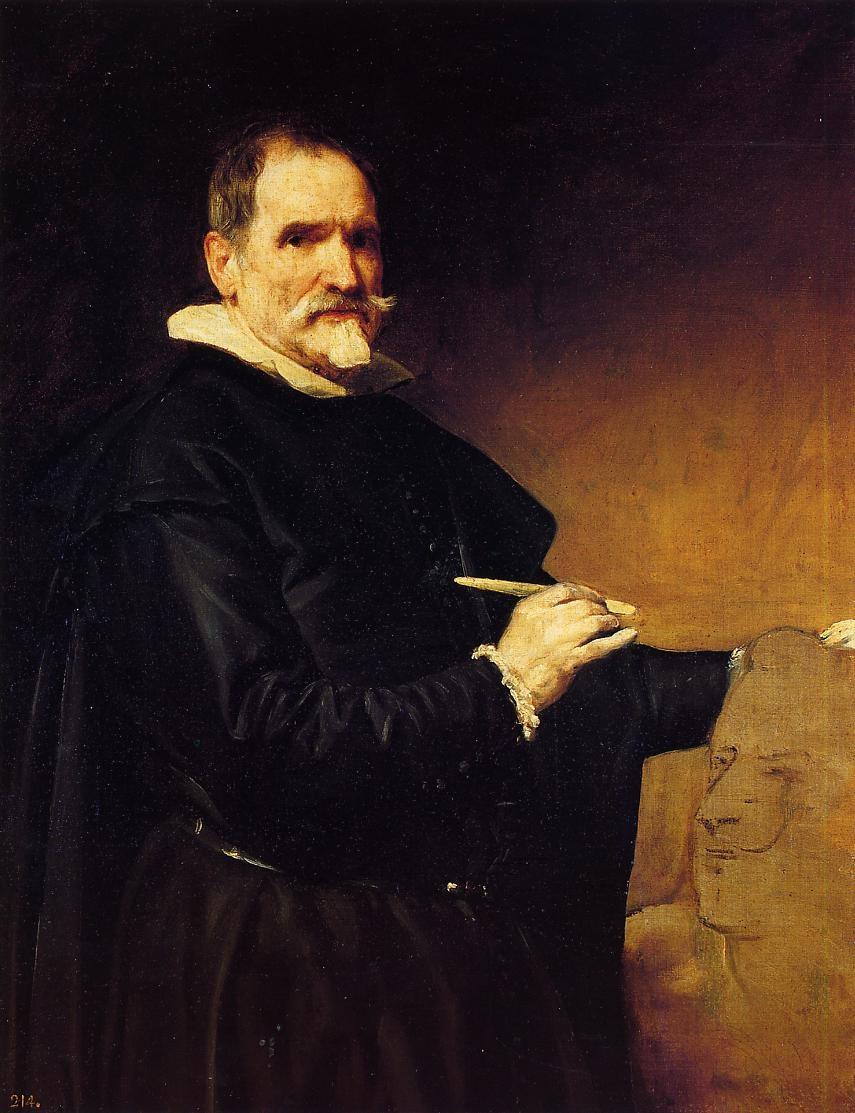 Diego Velázquez (Spanish, 1599-1660) Martínez Montañés ejecutando el busto de Felipe IV (c. 1635) Oil on canvas. Museo Nacional del Prado, Madrid