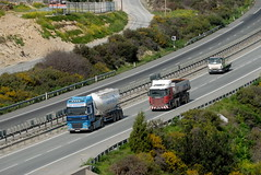 TRUCKING IN CYPRUS (Claude  BARUTEL) Tags: sea truck turkey island mediterranean transport cyprus partition divided trucking scania daf