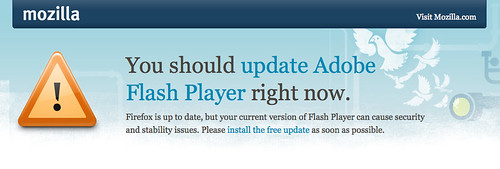 You should update Adobe Flash Player right now.