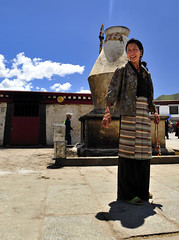 The Native Garb (Josh Taylor - Angry Beard Photo) Tags: china woman photography nikon tibet josh taylor lhasa 5photosaday thechallengegame challengegamewinner thechallengefactory marketandtemple joshtaylorphotography angrybeardphoto wwwangrybeardphotocom