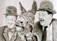Charcoal pencil portrait of Laurel and Hardy with Donkey (Portrait from a photo) Tags: portrait blackandwhite celebrity art pencil portraits stars artist drawing pastel films drawings swissmiss gift charcoal bowlerhat present movies commission graphite birthdaypresent christmaspresent laurelandhardy wayoutwest realistic weddingpresent stanlaurel oliverhardy commissioned portraitartist anniversarypresent achumpatoxford portraitfromaphoto christeningpresent