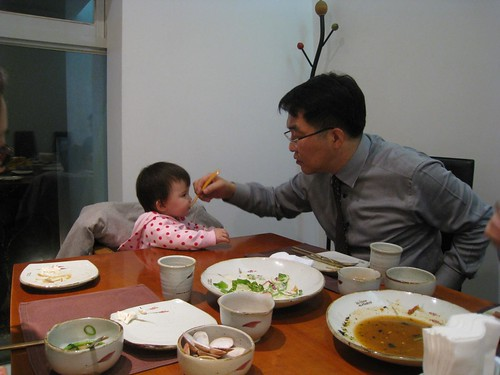 Grandpa feeding