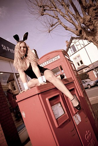 paraded naked in vintage public nudity pics: postbox, ears, playboybunny, carlywong, phonebox, cheeky, rabbit, bunny, sexy, red, publicnudity, phonebooth, lorenaf, playboy