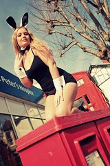 Lorena_F by Carly Wong (jedi_princess_elan) Tags: red sexy rabbit bunny phonebooth ears cheeky postbox playboy phonebox playboybunny carlywong lorenaf
