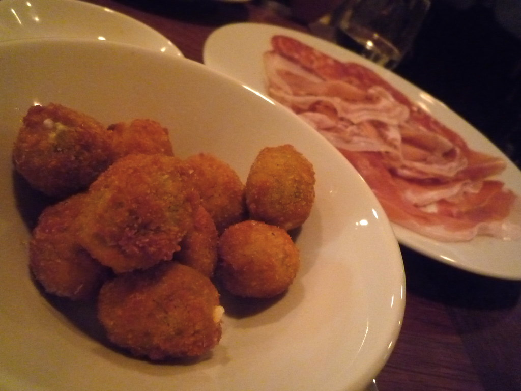 Stuffed olives and Salumi Maxi