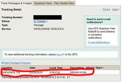 Ipad UPS shipping
