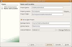 Pantallazo-Nuevo Android Application