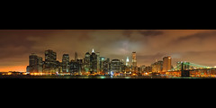Lower Manhattan at Night from Brooklyn Heights, NYC