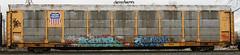 DECOR, COMBOS (FreshySnapper) Tags: streetart art train graffiti artwork paint graf trains r spraypaint graff decor freight 43 ihp combos freighttrain bhg fr8 railart benching comboe