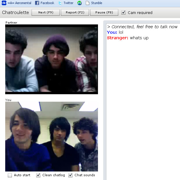 Chatroulette Jonas Brothers