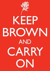 Keep Brown and Carry on (philipharpr) Tags: uk red party rose illustration poster typography prime graphicdesign election screenprint comedy satire parliament silkscreen type labour government parody minister gillsans gordonbrown electioncampaign generalelection allcaps keepcalmandcarryon philipharper polictial britishpoliticsposter
