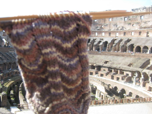 Sock at the Colosseum!